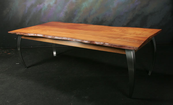 Contemporary Cypress Slab Table