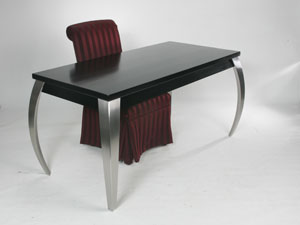 Contemporary Crescent Leg Writing Desk
