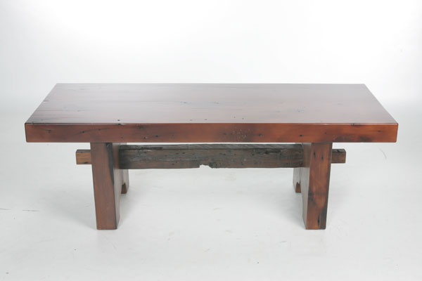 White Pine Trestle Coffee Table