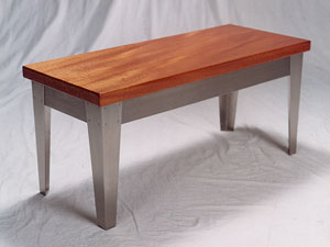 Contemporary Mahogany Coffee Table